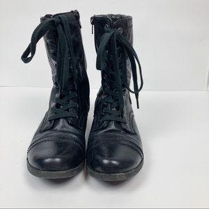 Nine West | Hannah Leather Combat Boots